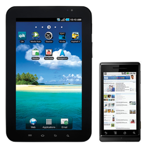 Android tablets and phones